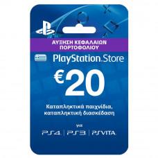 PlayStation Live Cards Hang EUR20/GRE