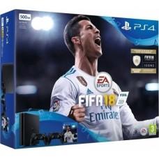 Sony Playstation 4 (PS4) Slim 500GB & FIFA 18 & DualShock 4