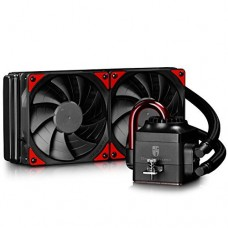 DEEPCOOL CAPTAIN 240EX All-in-One Liquid CPU Cooler with 240mm Dual-fan Radiator (AM4 Compatible), Black, 3-year Warranty