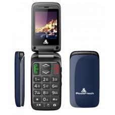 POWERTECH Κινητό Τηλέφωνο Sentry, SOS Call, Dual Sim, με φακό, Blue