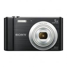 Sony DSCW800 Digital Compact Camera (20.1 MP, 5x Optical Zoom) - Black