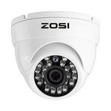 "ZOSI 1/3"" 900TVL 960H 24PCS IR Leds Security Surveillance CCTV Camera Had IR Cut 3.6mm Lens High Resolution Outdoor Weatherproof Cameras- 65ft (20m) IR Distance, Aluminum Metal Housing(White)"