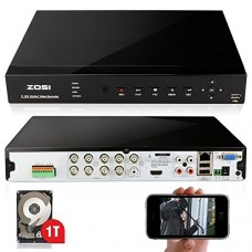 ZOSI 8CH 960H Standalone H.264 CCTV Surveillance Security DVR Recorder HDMI Recording Realtime 3G WiFi with 1T HDD